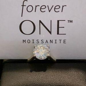 3 carat Forever One Moissanite Ring